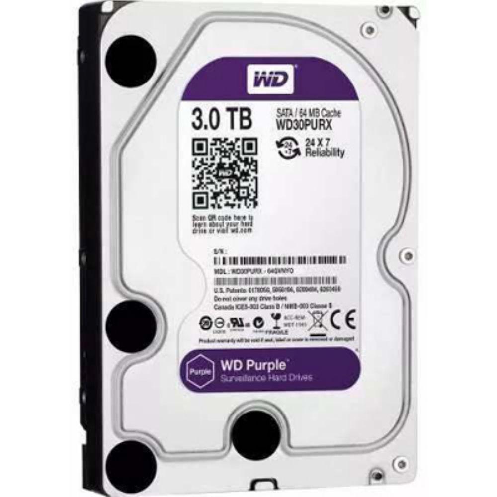 HD PURPLE 3TB SATA 6 GB/S 5400RPM 64MB WD30PURZ
