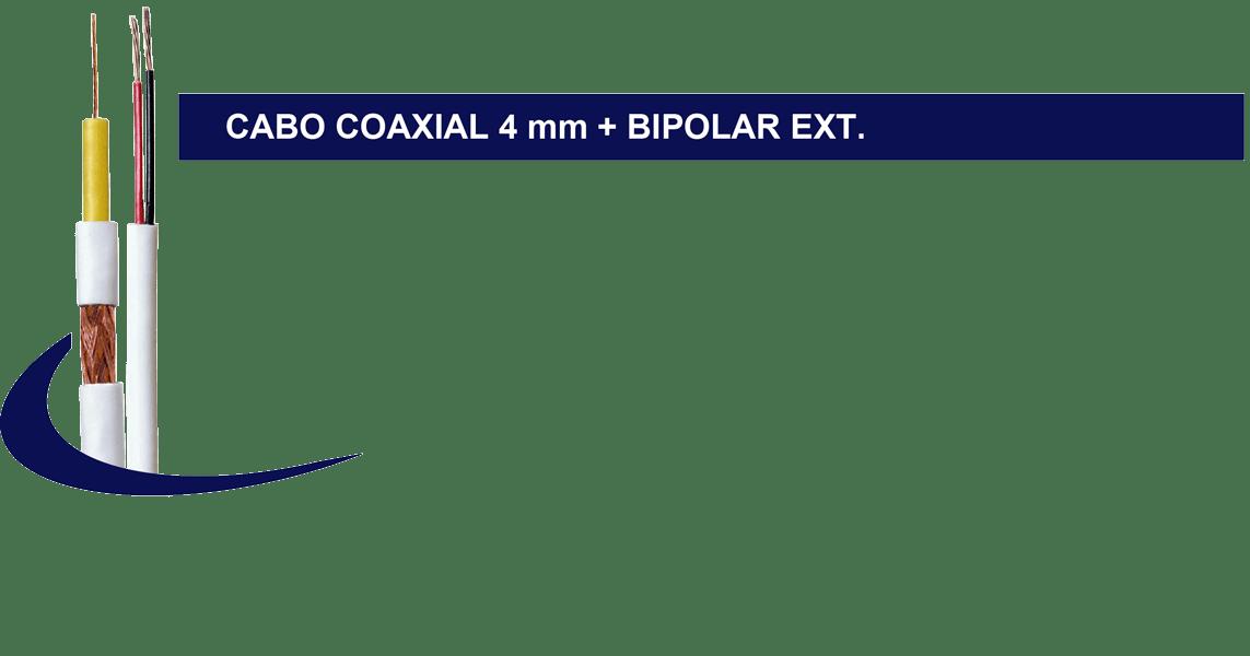 CABO ULTRA HD 4MM DUPLA BLINDAGEM SEM ALIMENTACAO - 300MTS
