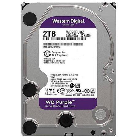 HD PURPLE 2TB SATA 6 GB/S 5400RPM 64MB WD20PURZ